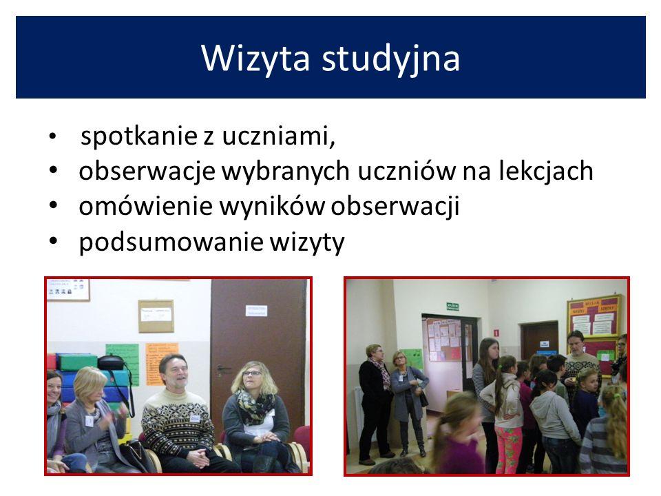Wizyta studyjna obserwacje wybranych uczniów na lekcjach