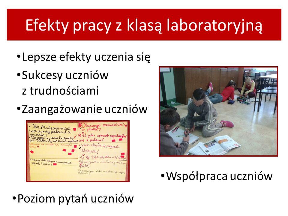 Efekty pracy z klasą laboratoryjną