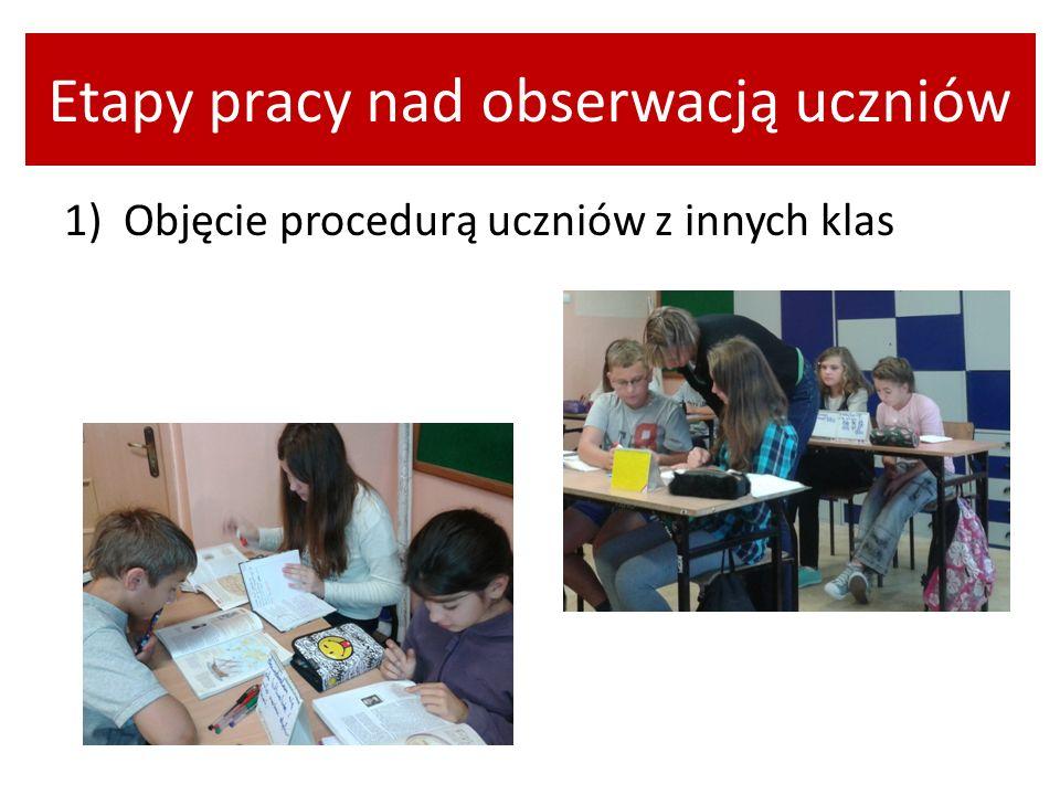 Etapy pracy nad obserwacją uczniów