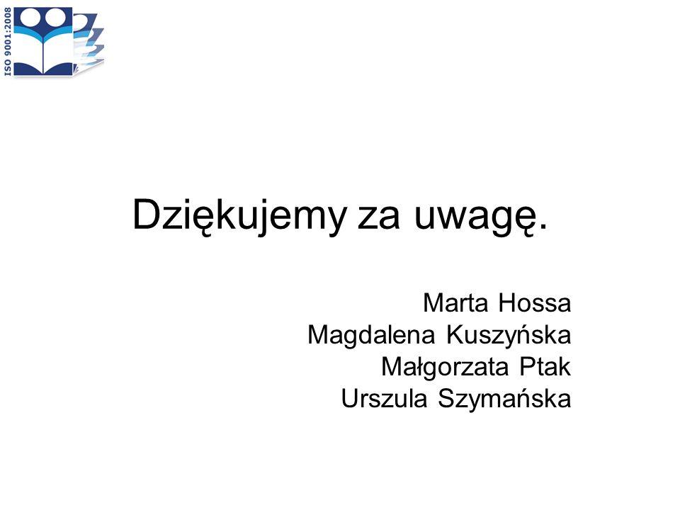 Marta Hossa Magdalena Kuszyńska Małgorzata Ptak Urszula Szymańska