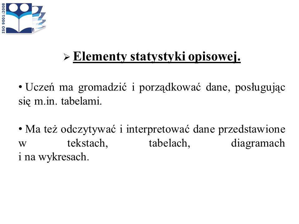 Elementy statystyki opisowej.