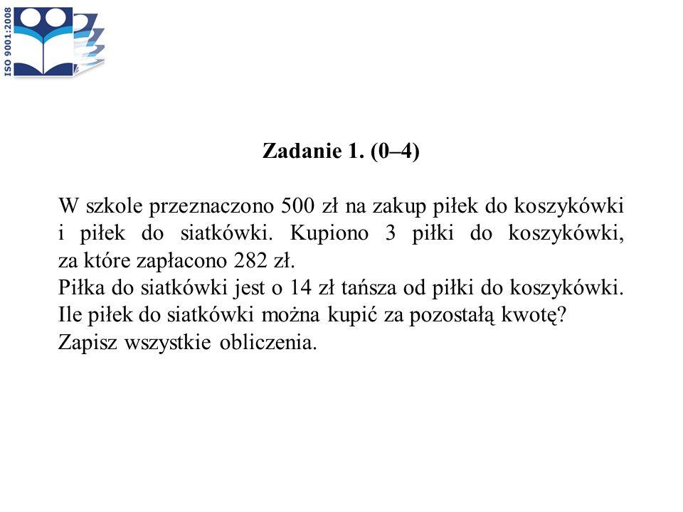 Zadanie 1. (0–4)