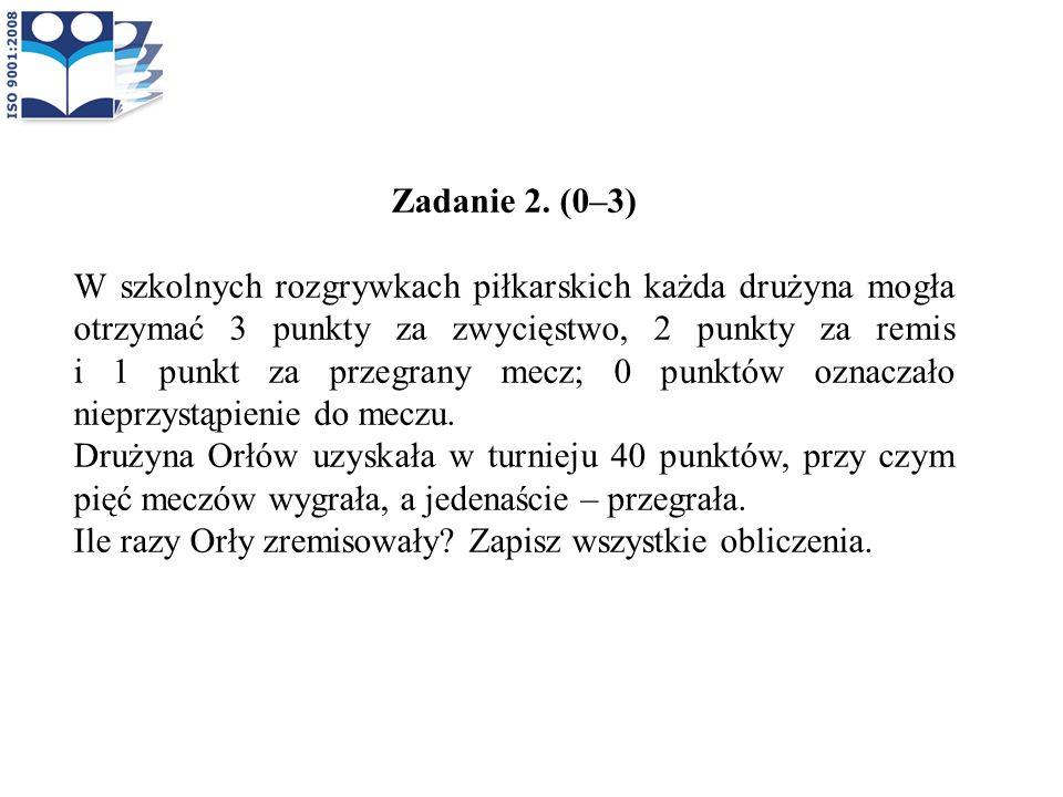 Zadanie 2. (0–3)