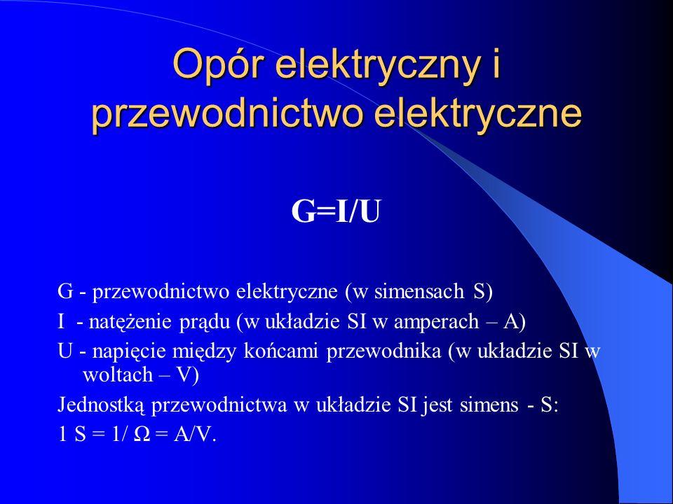 Opór elektryczny i przewodnictwo elektryczne
