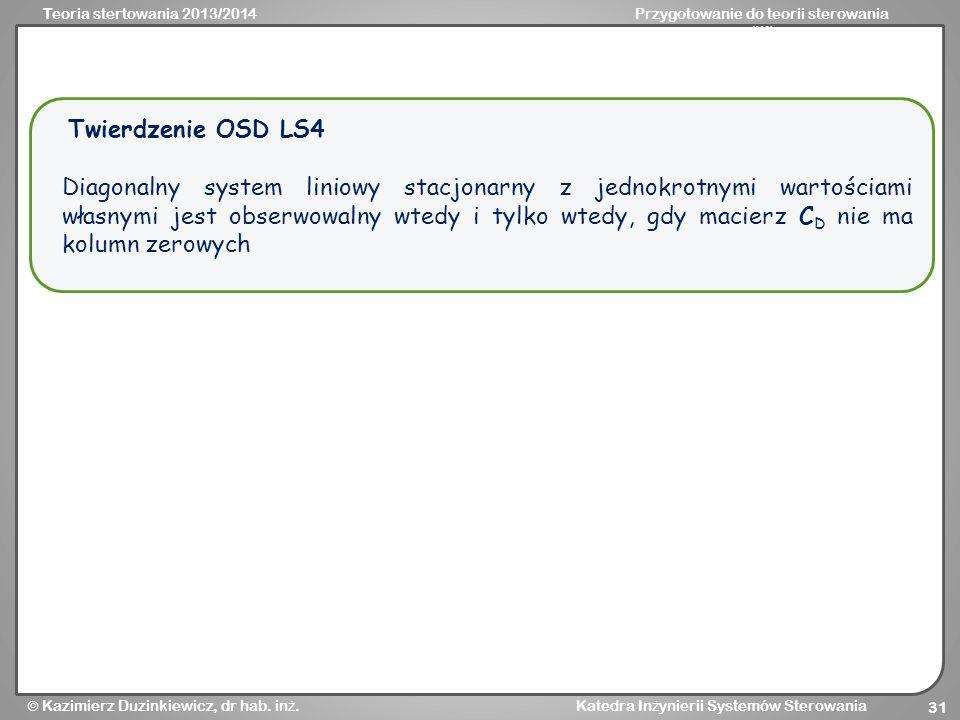 Twierdzenie OSD LS4