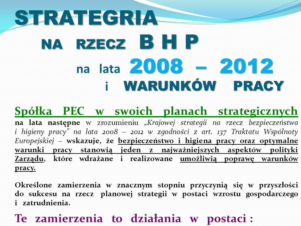 STRATEGRIA NA RZECZ B H P na lata 2008 – 2012 i WARUNKÓW PRACY