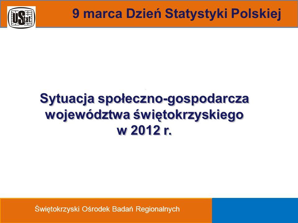 Sytuacja społeczno-gospodarcza województwa świętokrzyskiego w 2012 r.