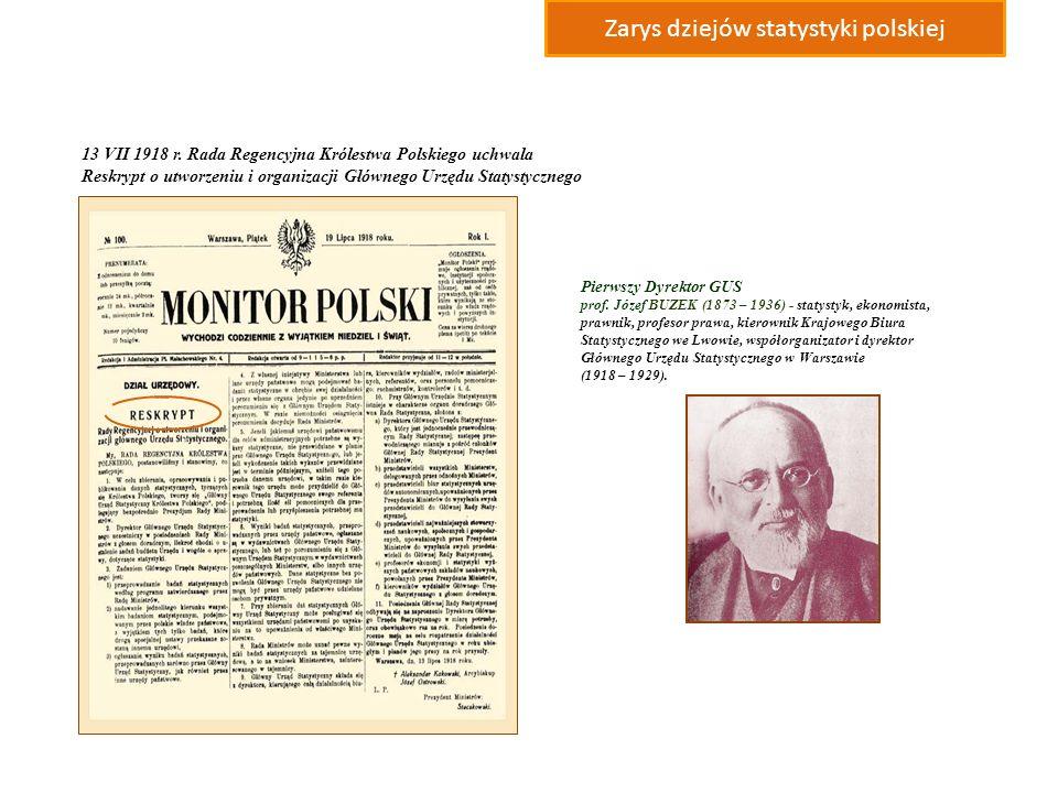 Zarys dziejów statystyki polskiej