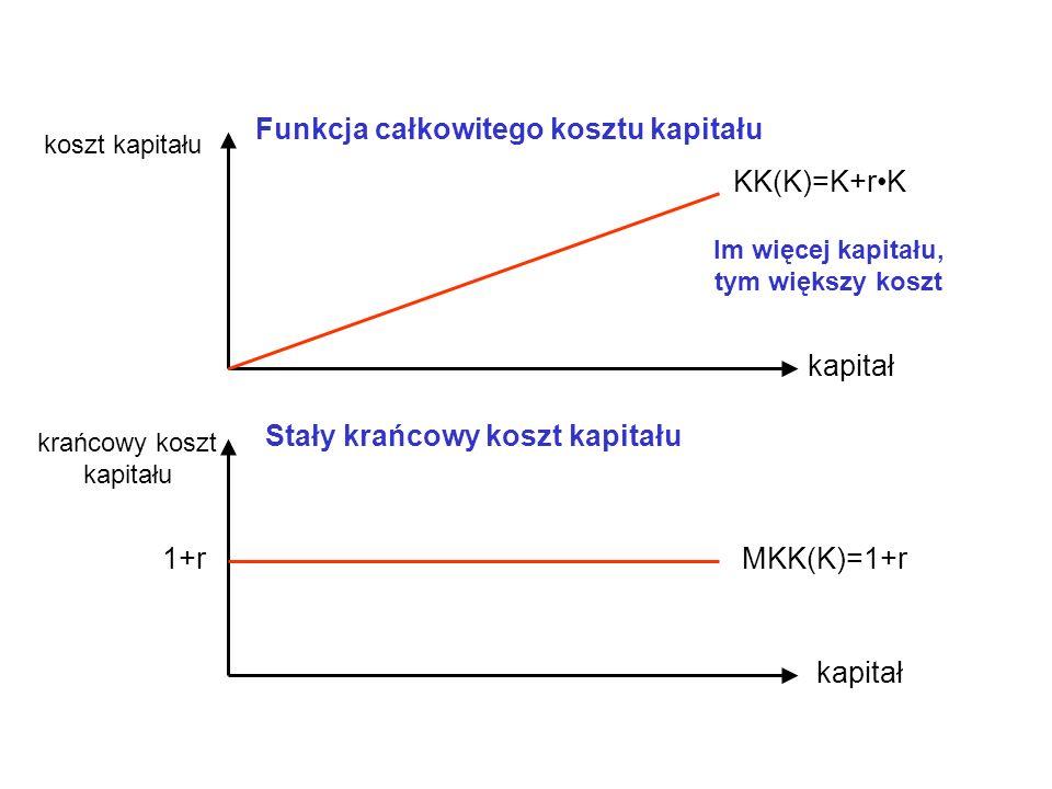 Funkcja całkowitego kosztu kapitału