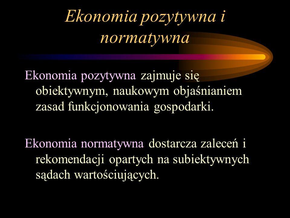 Ekonomia pozytywna i normatywna