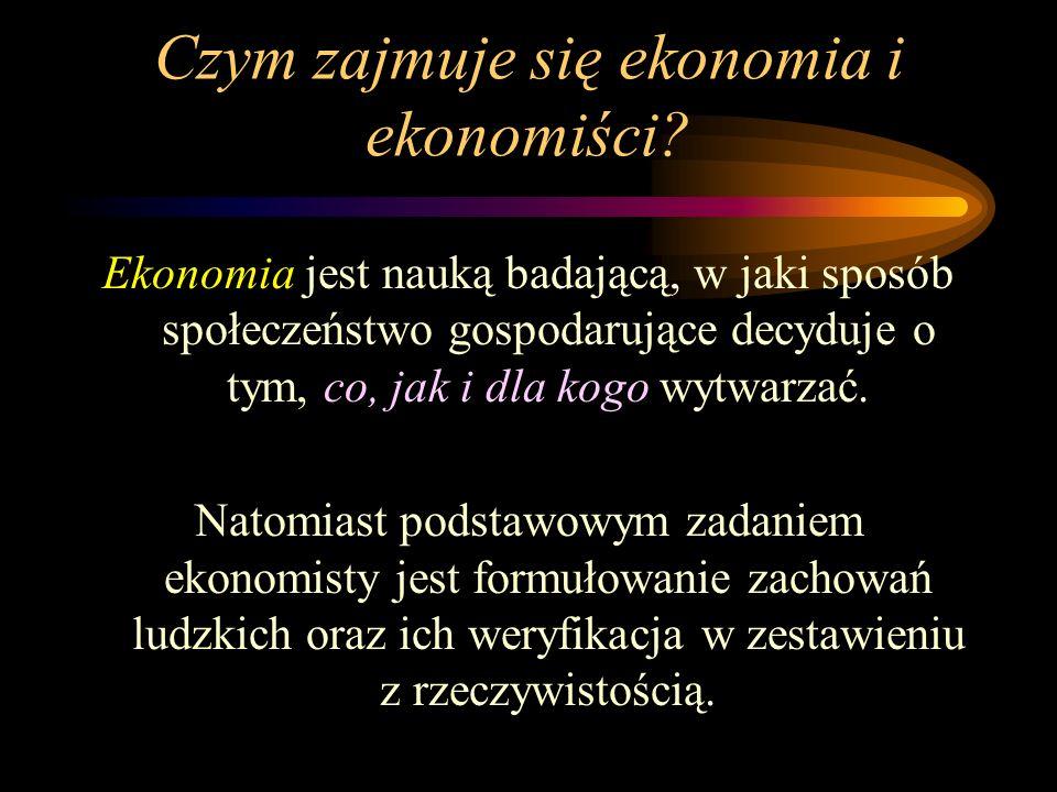 Czym zajmuje się ekonomia i ekonomiści