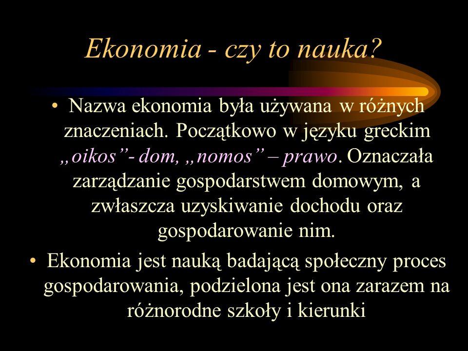 Ekonomia - czy to nauka