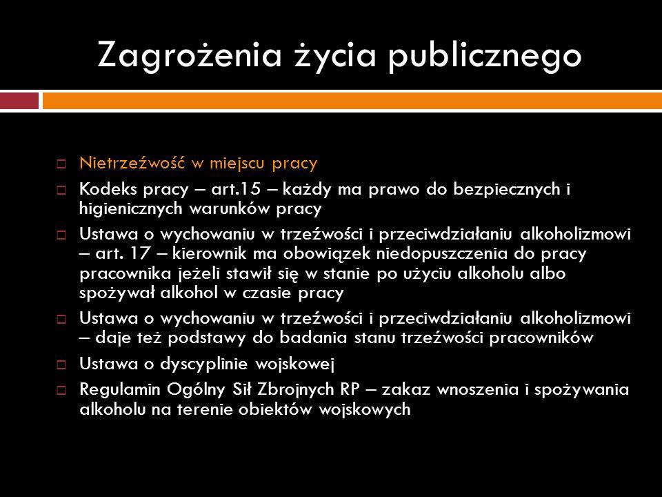 Zagrożenia życia publicznego