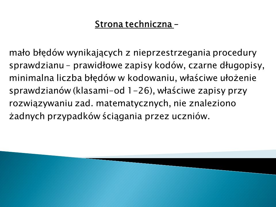 Strona techniczna –