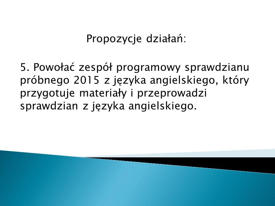 Propozycje działań: