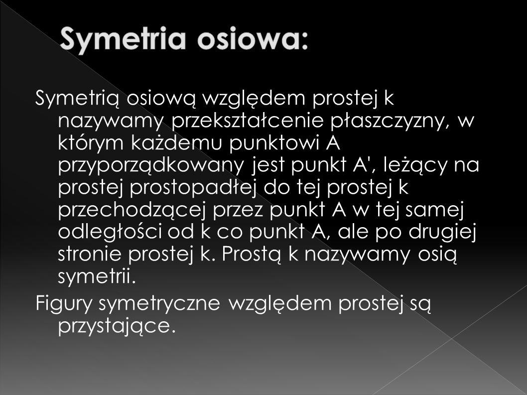 Symetria osiowa: