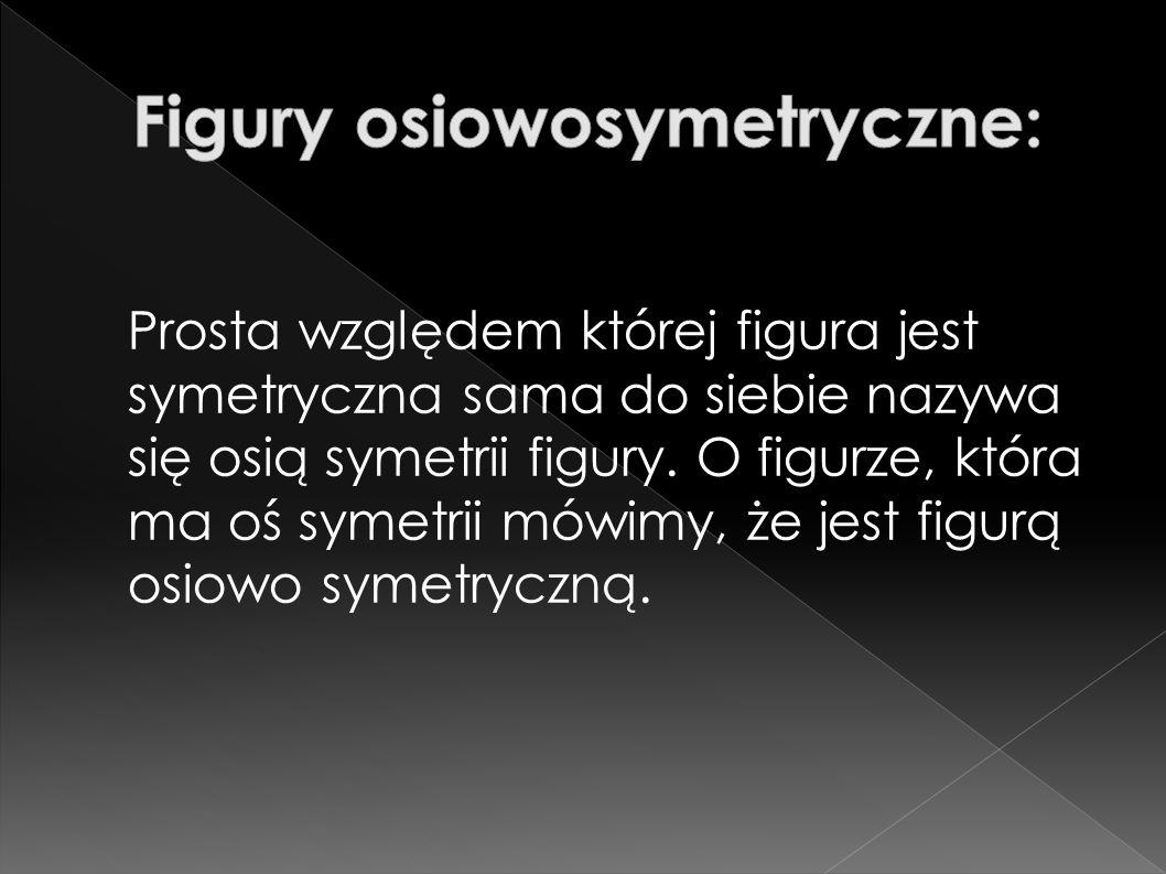 Figury osiowosymetryczne:
