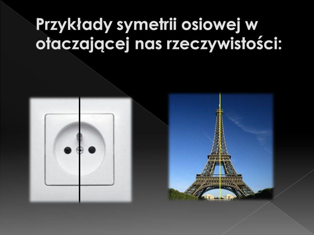 Przykłady symetrii osiowej w otaczającej nas rzeczywistości: