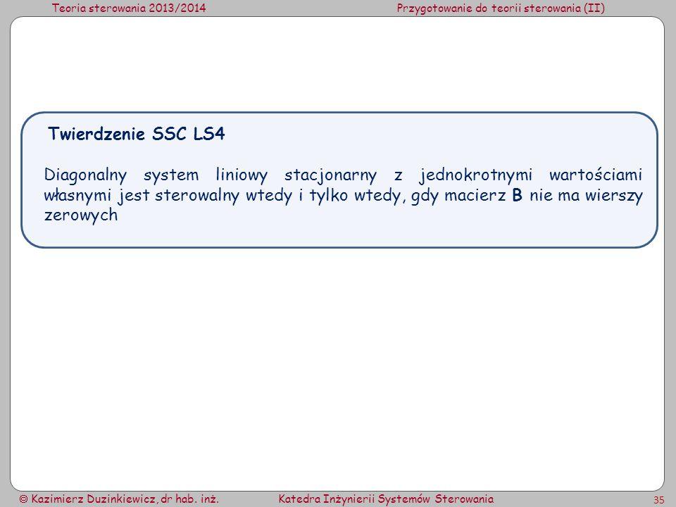 Twierdzenie SSC LS4