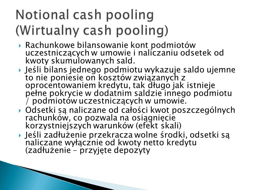 Notional cash pooling (Wirtualny cash pooling)