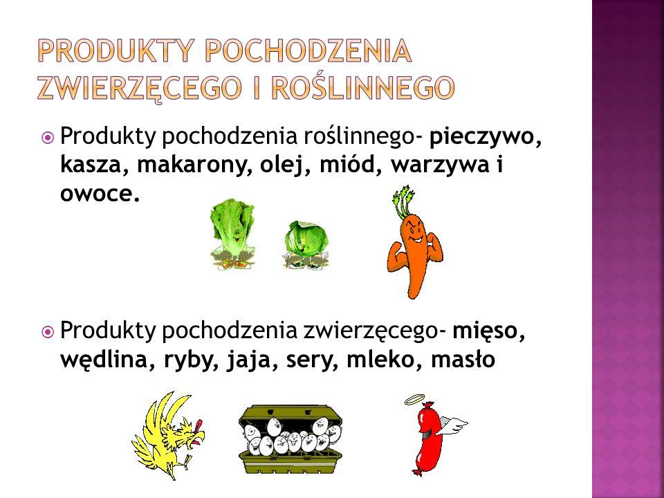 Produkty pochodzenia zwierzęcego i roślinnego