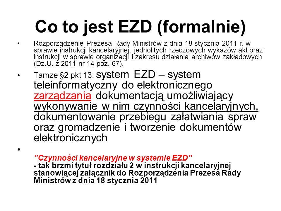 Co to jest EZD (formalnie)