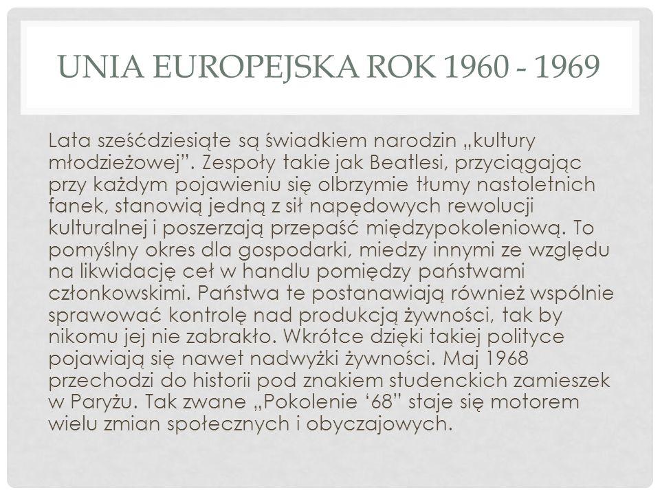 Unia Europejska rok 1960 - 1969
