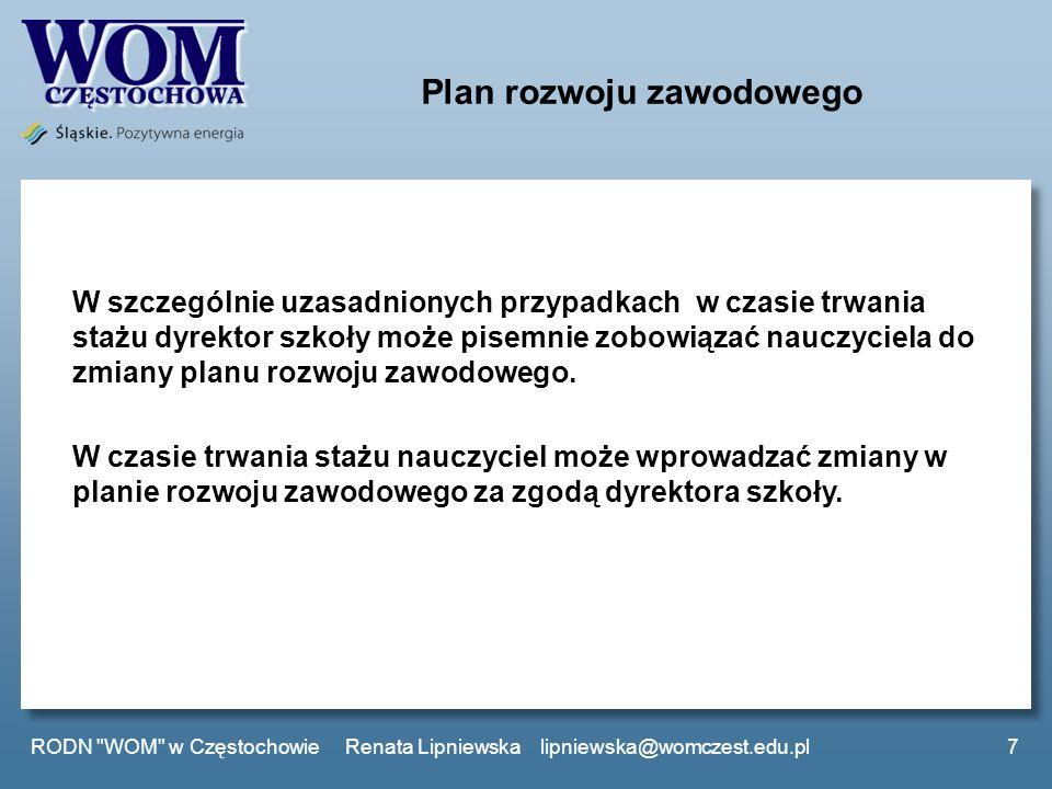 Plan rozwoju zawodowego