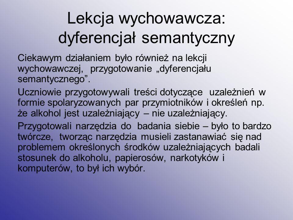 Lekcja wychowawcza: dyferencjał semantyczny