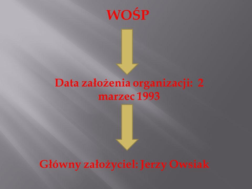 Data założenia organizacji: 2 marzec 1993