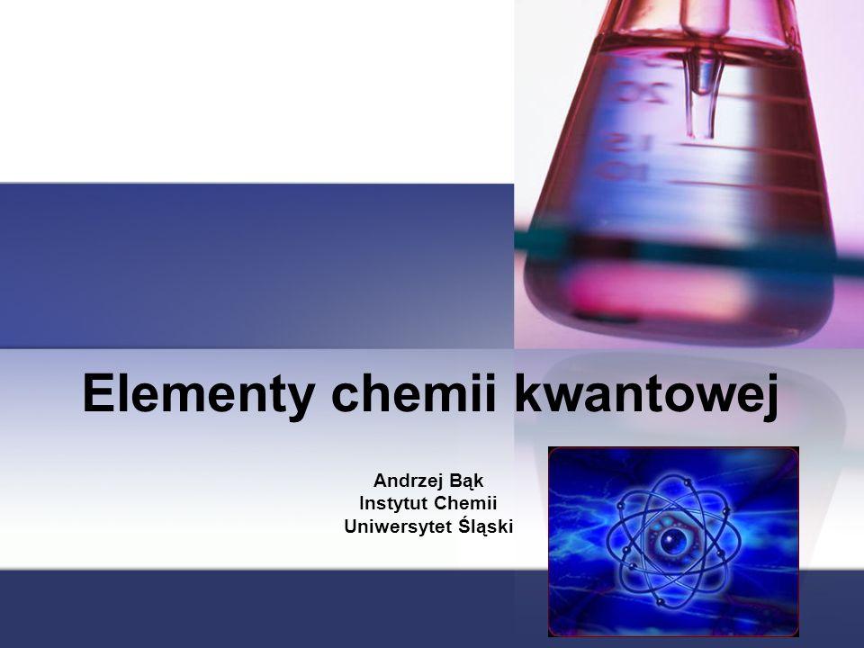 Elementy chemii kwantowej