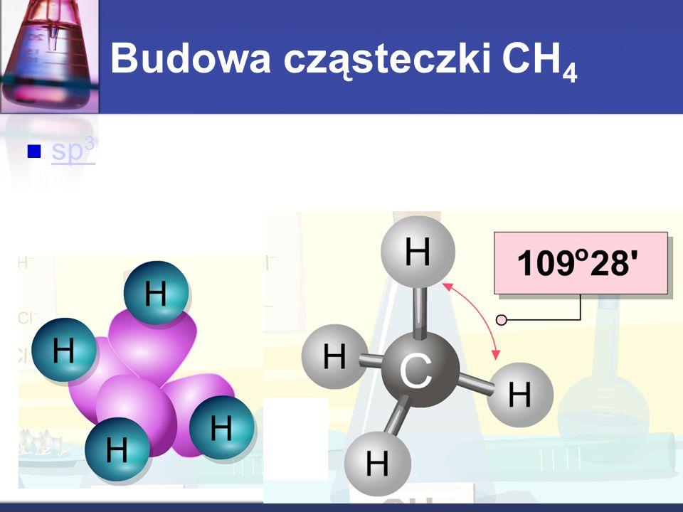Budowa cząsteczki CH4 sp3