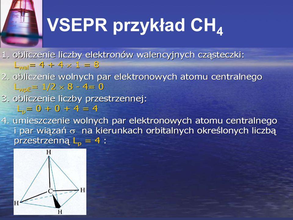 VSEPR przykład CH4