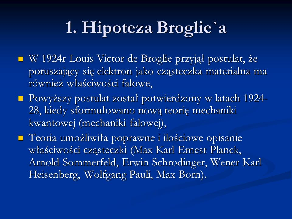 1. Hipoteza Broglie`a