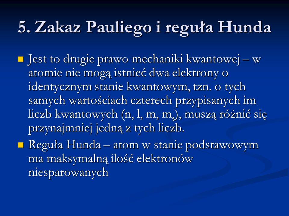 5. Zakaz Pauliego i reguła Hunda