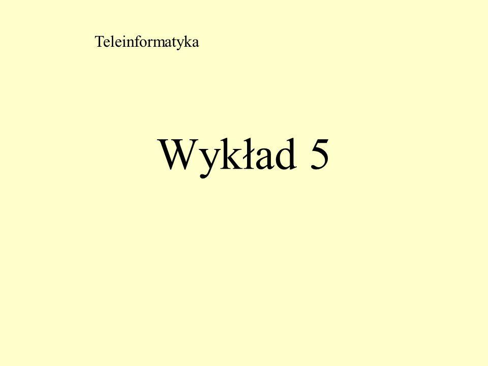 Teleinformatyka Wykład 5