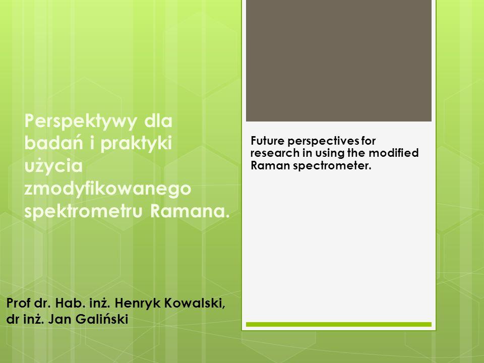 Perspektywy dla badań i praktyki użycia zmodyfikowanego spektrometru Ramana.