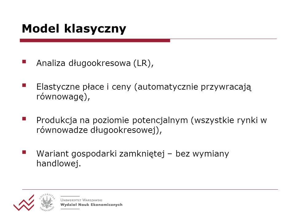 Model klasyczny Analiza długookresowa (LR),