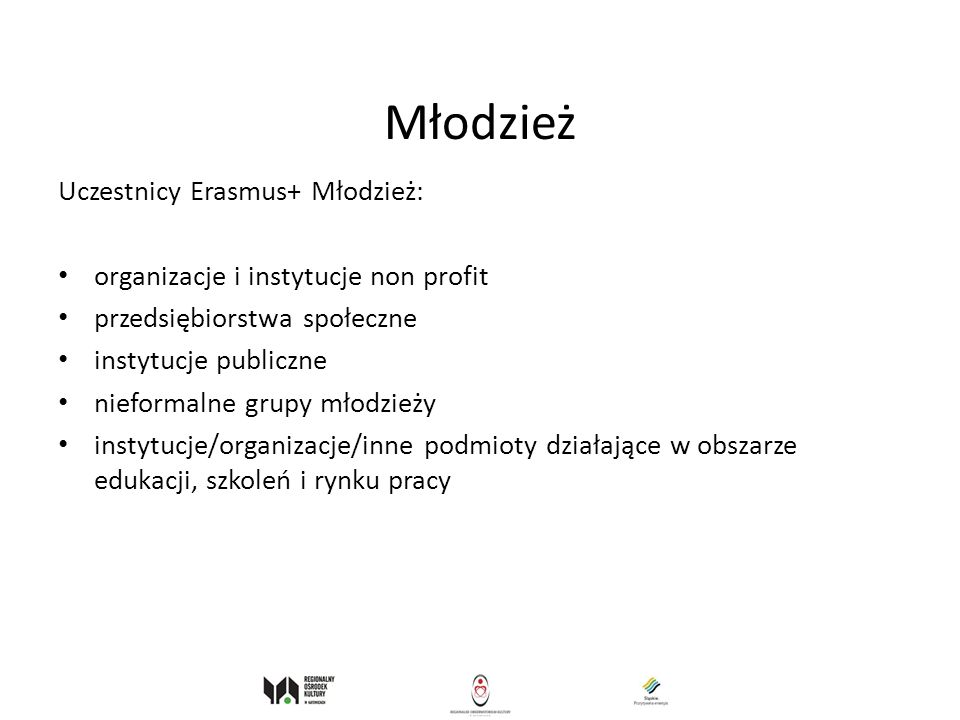 Młodzież Uczestnicy Erasmus+ Młodzież: