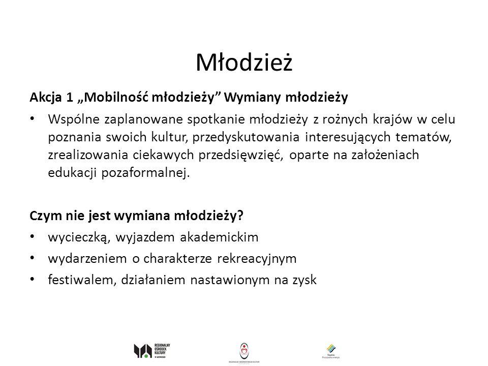"""Młodzież Akcja 1 """"Mobilność młodzieży Wymiany młodzieży"""