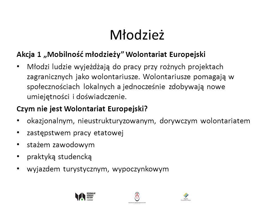 """Młodzież Akcja 1 """"Mobilność młodzieży Wolontariat Europejski"""
