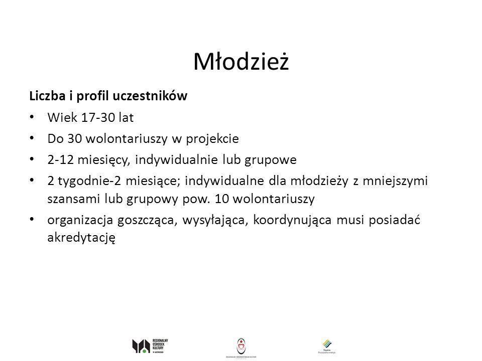 Młodzież Liczba i profil uczestników Wiek 17-30 lat