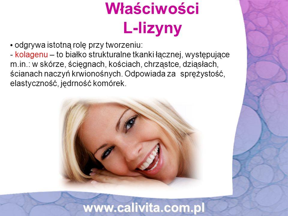 Właściwości L-lizyny www.calivita.com.pl