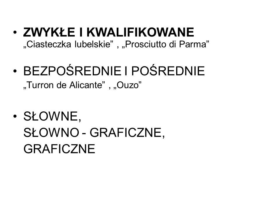 """ZWYKŁE I KWALIFIKOWANE """"Ciasteczka lubelskie , """"Prosciutto di Parma"""