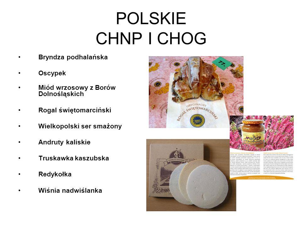 POLSKIE CHNP I CHOG Bryndza podhalańska Oscypek