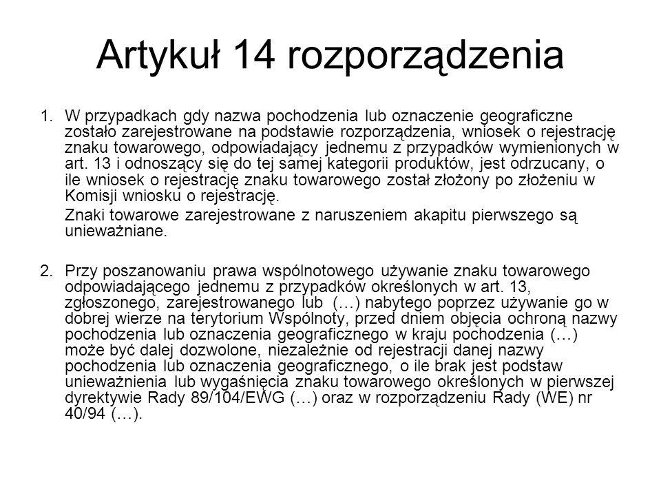 Artykuł 14 rozporządzenia