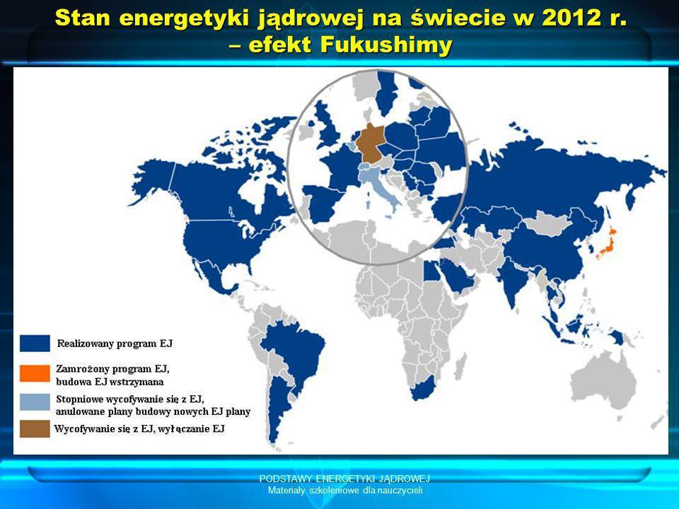 Stan energetyki jądrowej na świecie w 2012 r. – efekt Fukushimy