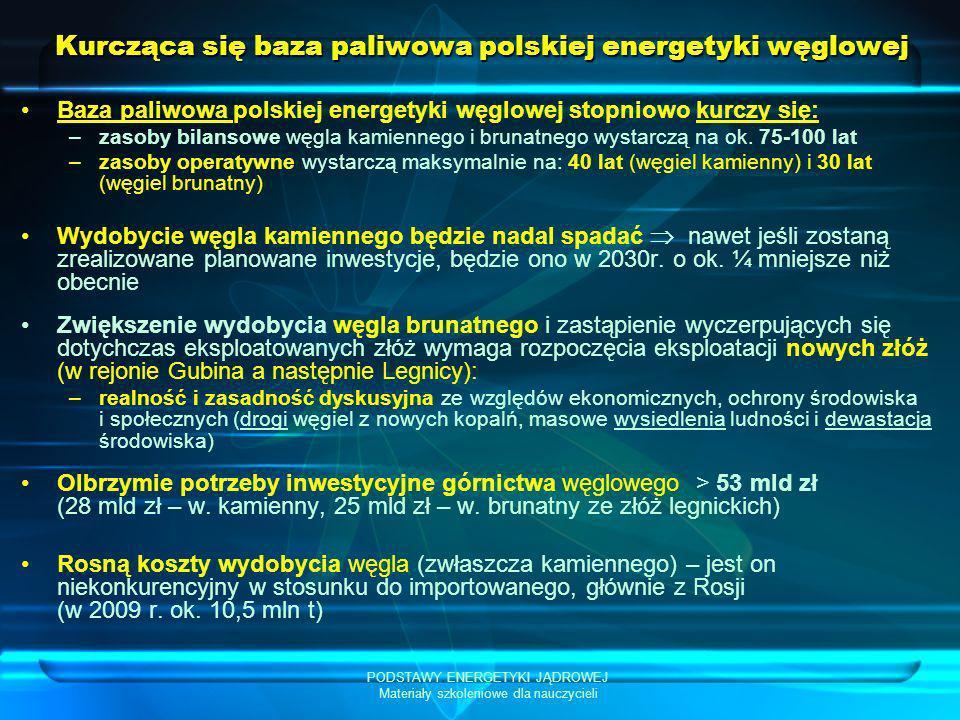 Kurcząca się baza paliwowa polskiej energetyki węglowej