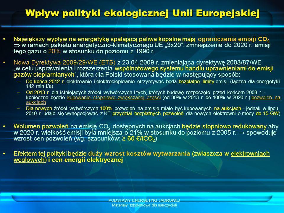 Wpływ polityki ekologicznej Unii Europejskiej