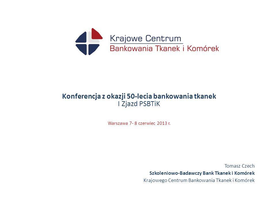 Konferencja z okazji 50-lecia bankowania tkanek I Zjazd PSBTiK Warszawa 7- 8 czerwiec 2013 r.